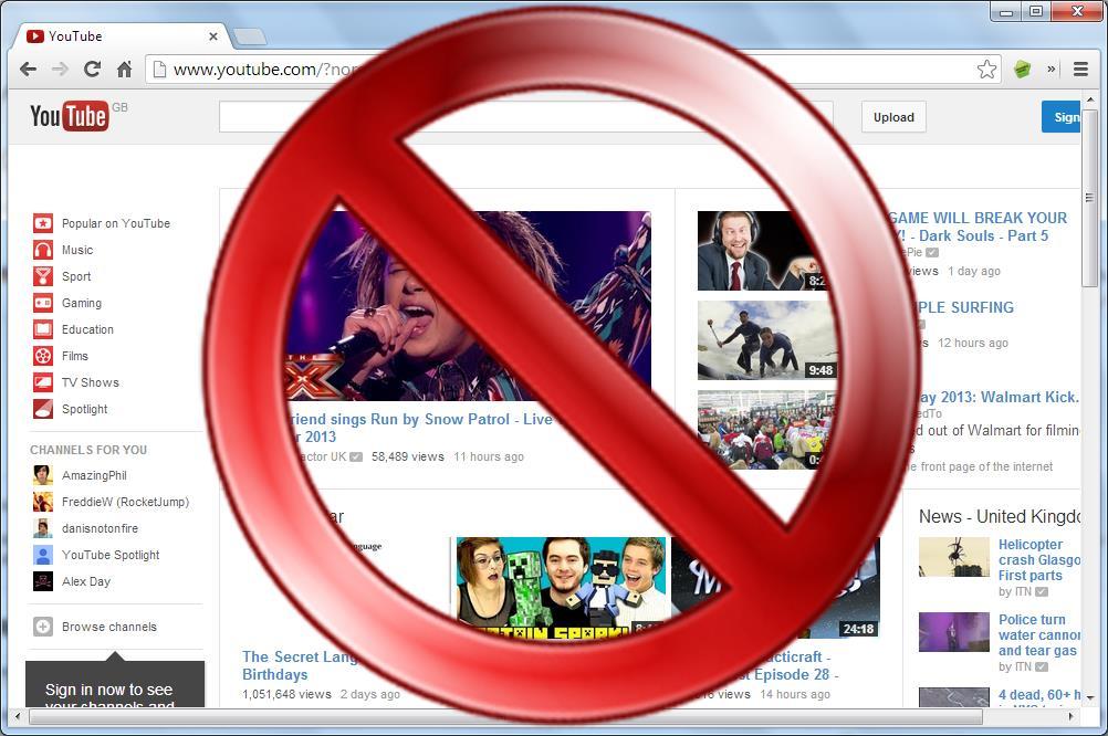 Block a website main