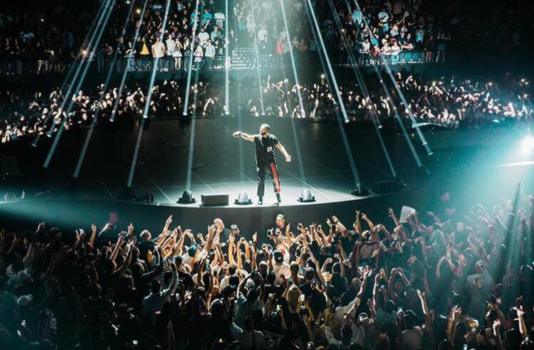 Drake in Auckland Spark Arena
