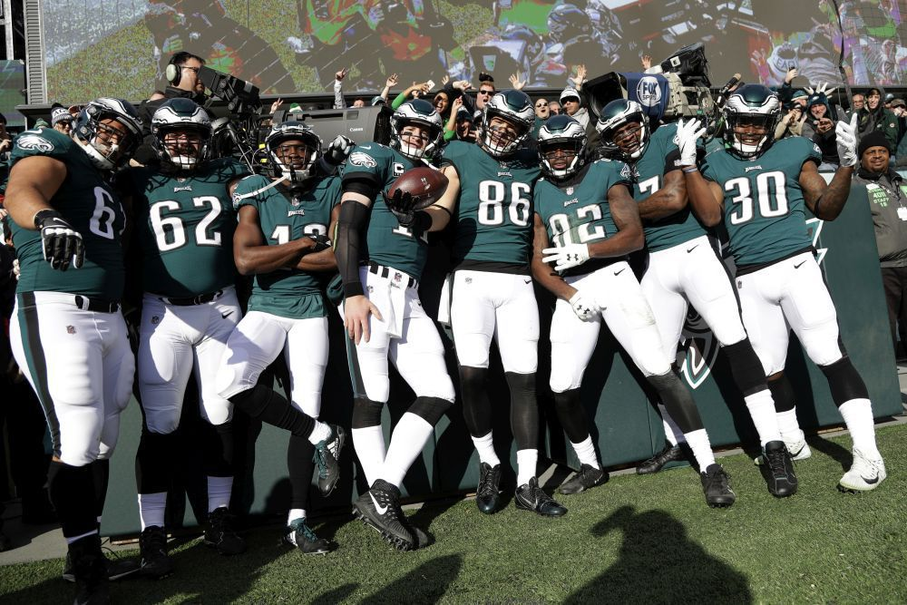 Eagles touchdown celebration