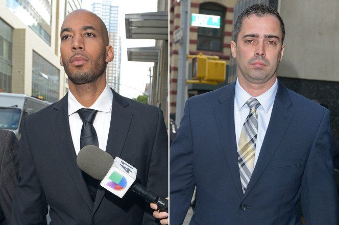 Two NYPD cops charged with raping teen prisoner quit the force