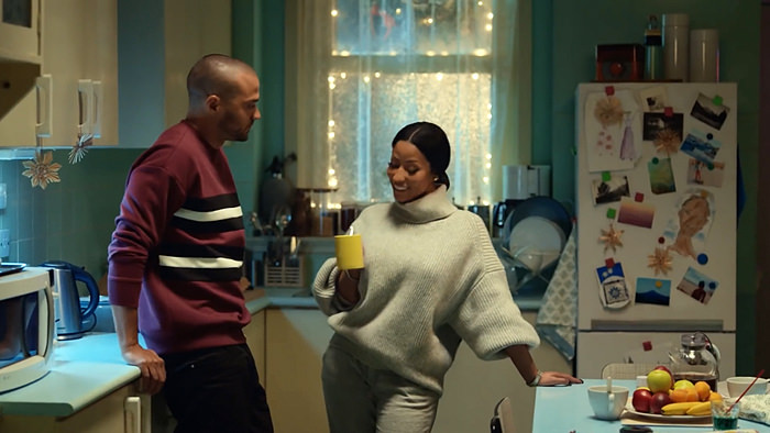 Nicki Minaj Stars in H&M Holiday Campaign Commercial With Jesse Williams