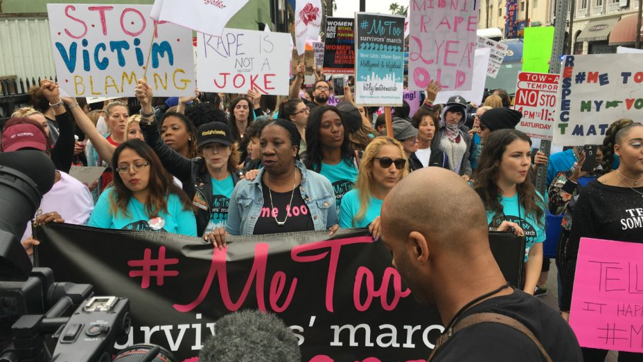 Take Back The Workplace MeToo Marches Flood Hollywood