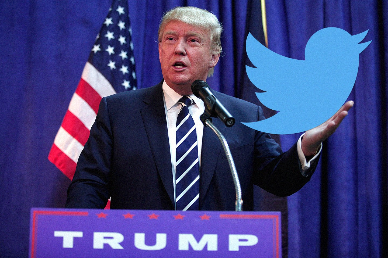 donald trump twitter follow