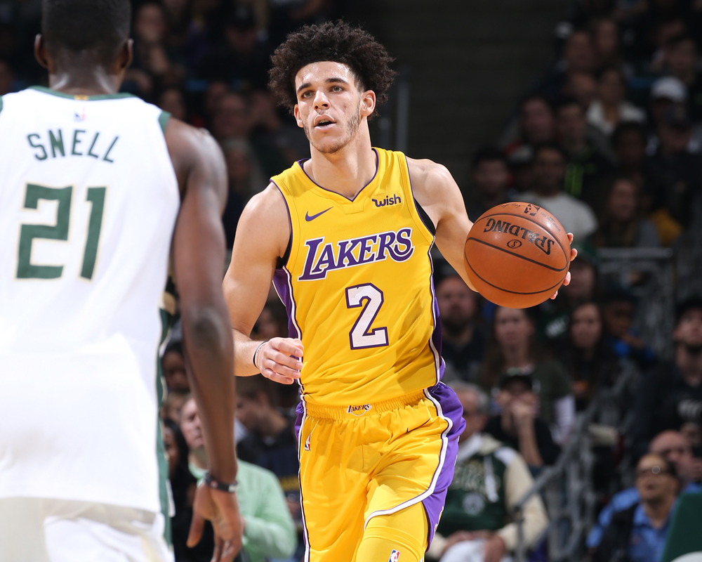 lonzo ball lebron youngest triple double
