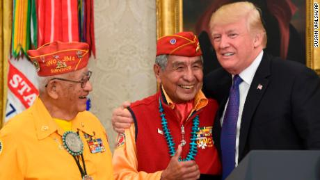"Trump Referred to Sen. Elizabeth Warren as ""Pocahontas"" While Honoring Navajo Veterans"