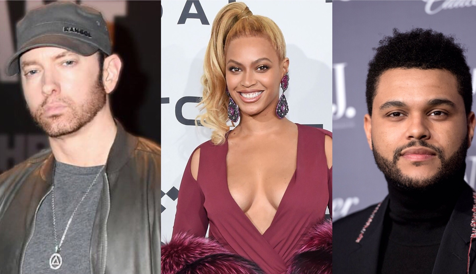 Beyonce Eminem The Weeknd
