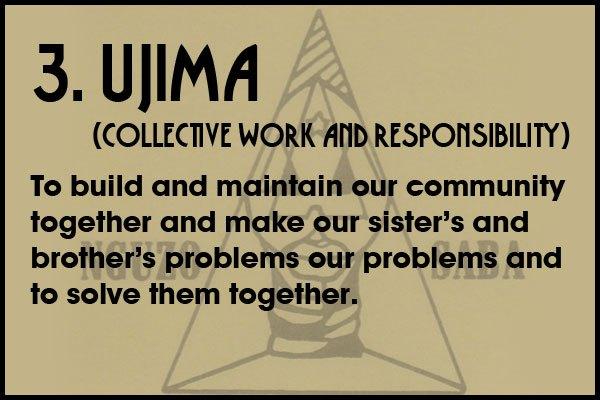 Ujima Kwanzaa principle