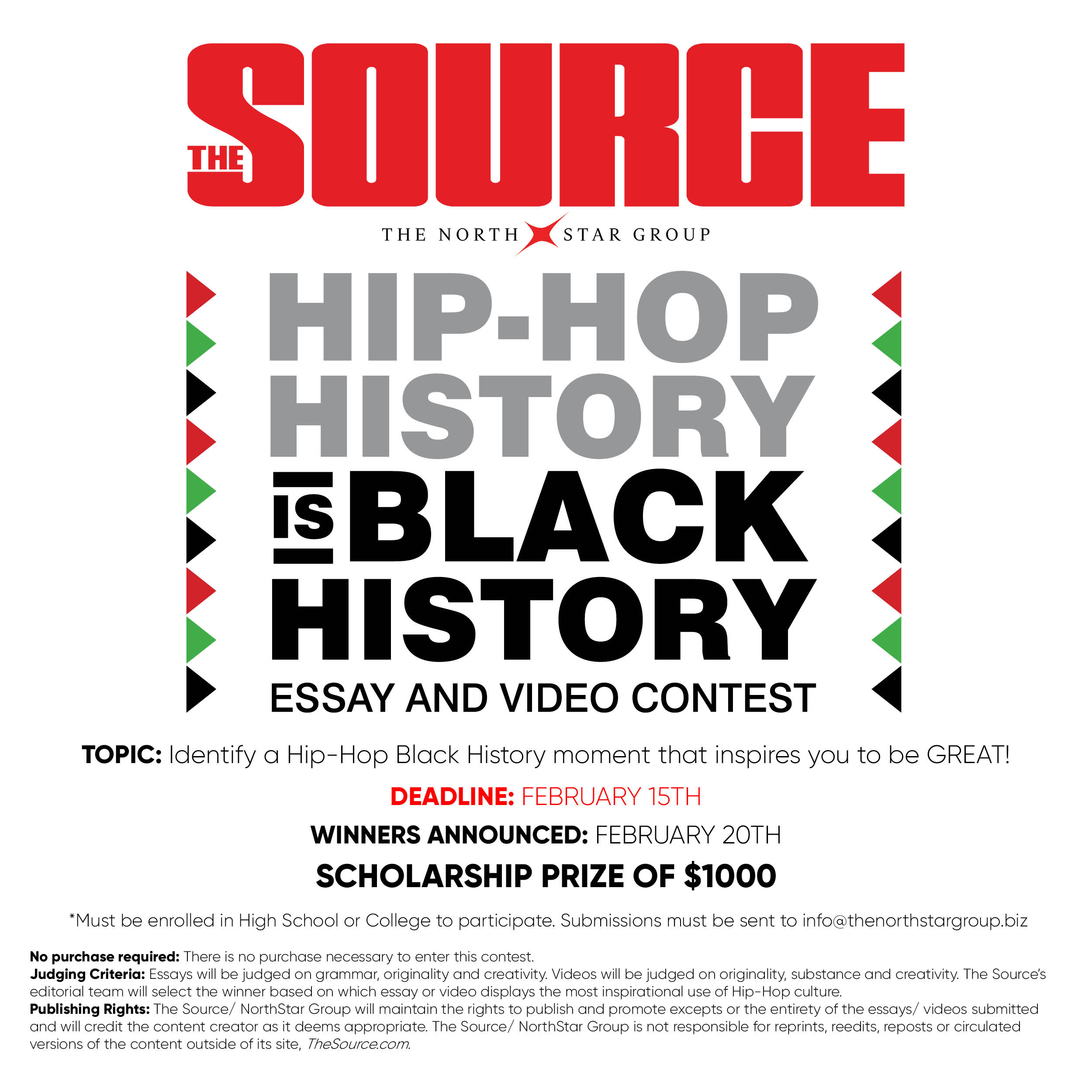 the source presents the hip hop history is black history contest if you are a high school and college students we are calling out to you to create an essay editorial or video about your favorite history moment in rap