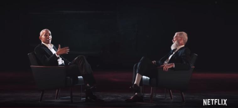 Barack Obama and David Letterman via YouTube