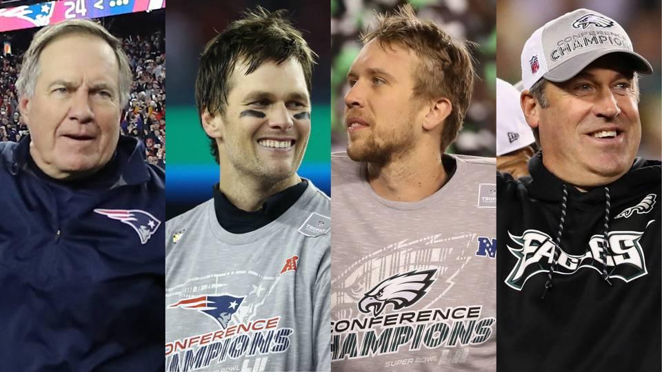 Eagles and Patriots super bowl