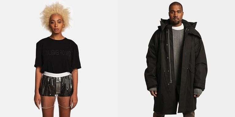 Kanye West and Solange Model in Helmut Lang's Ad Campaign