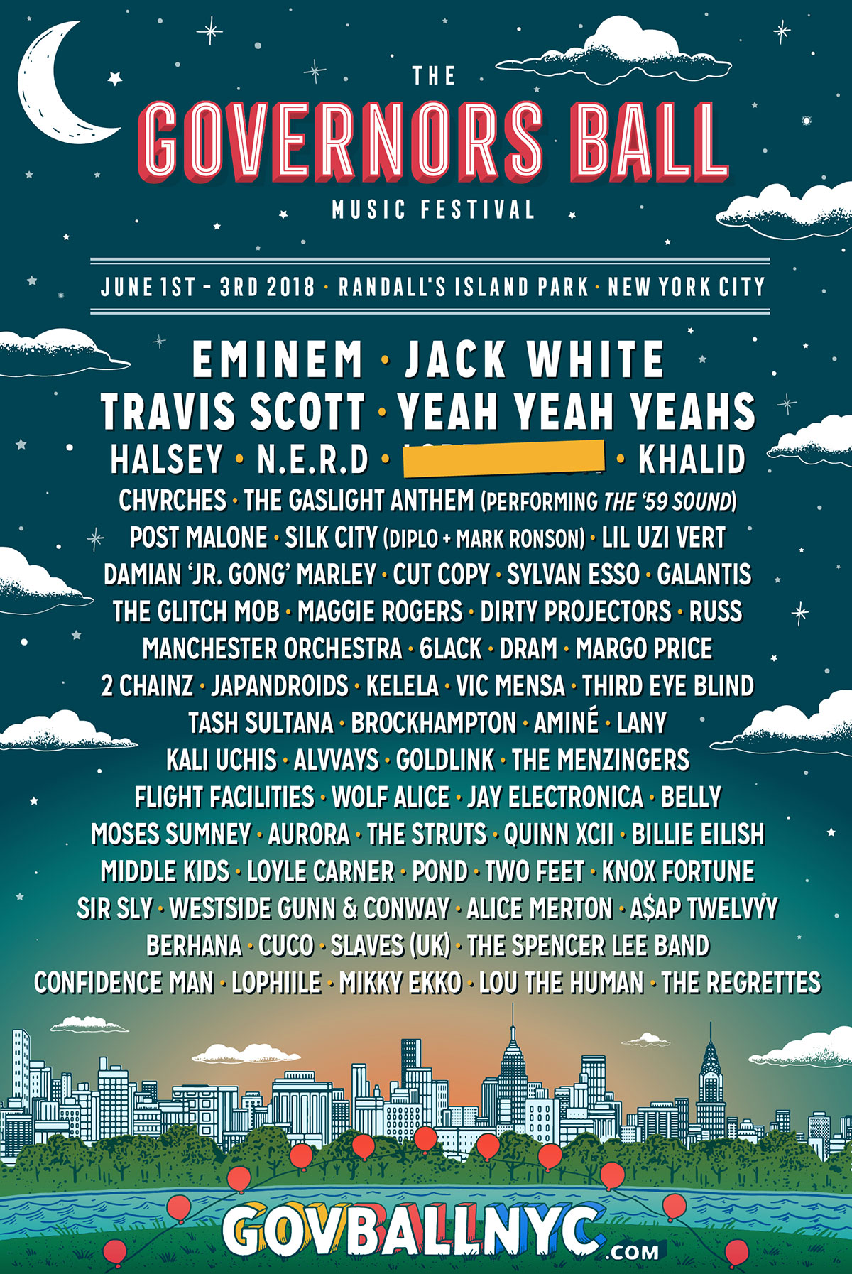 2018 Governors Ball Music Festival Line-Up is Announced