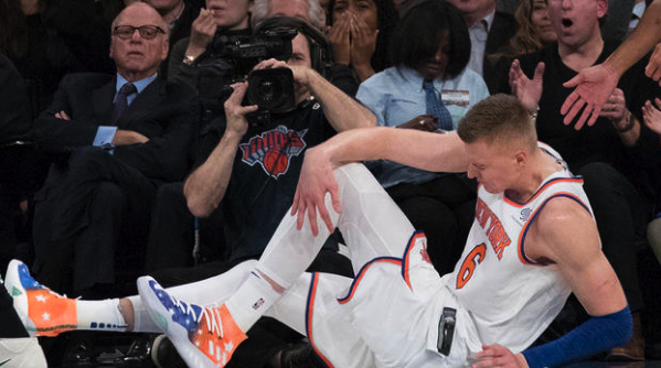 Knicks Playoffs Hopes Thwart As Center Kristaps Porzingis Tears ACL Jason Cordner