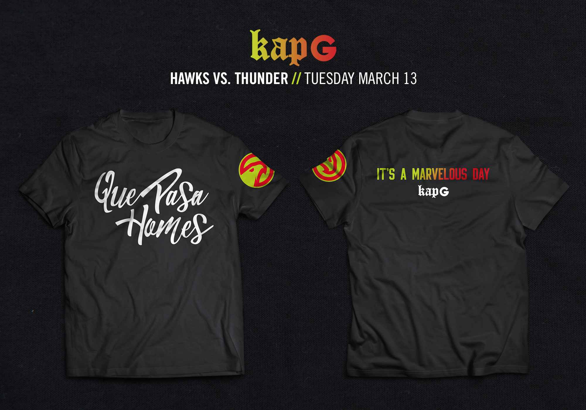 Hawks and KAP G Tshirt