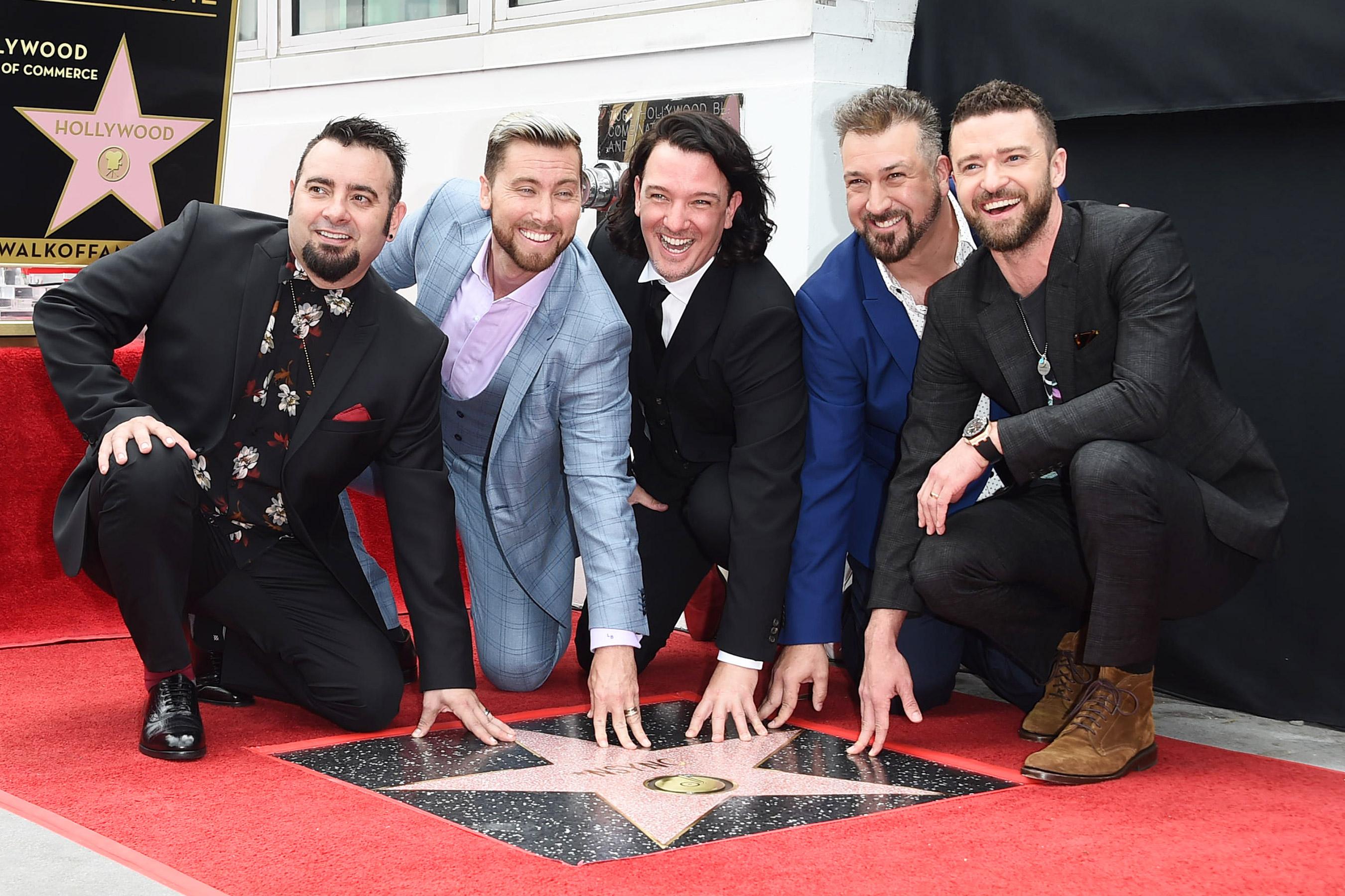 NSYNC Gets Star on Hollywood Walk of Fame