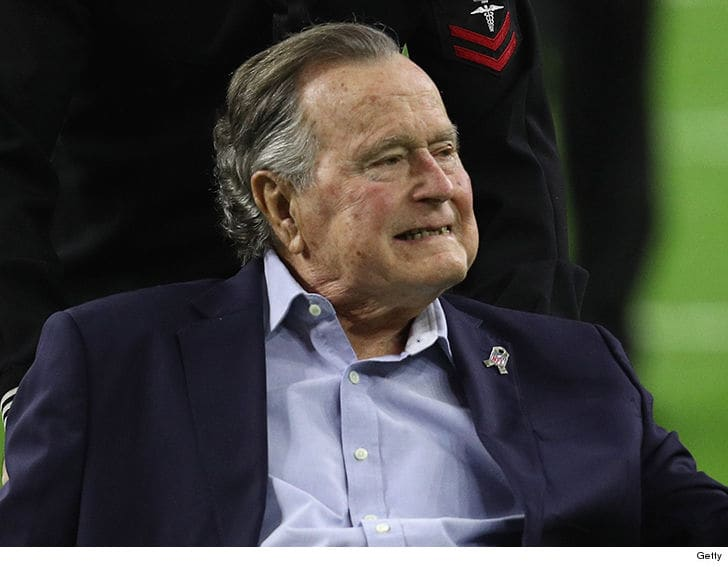 President George Bush Hospitalized Just One Day After His Wife's Funeral