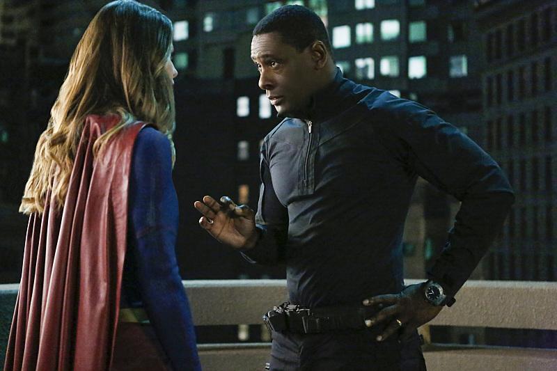 Supergirl Melissa Benoist and J'onn J'onzz David Harewood
