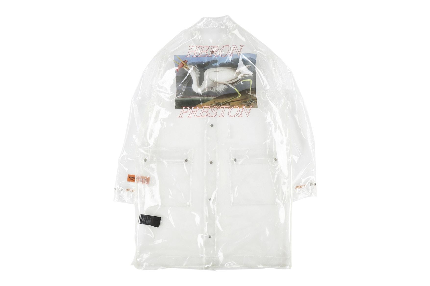 heron preston pvc transparent raincoat