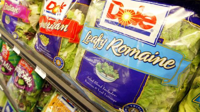 Don't eat romaine lettuce open line