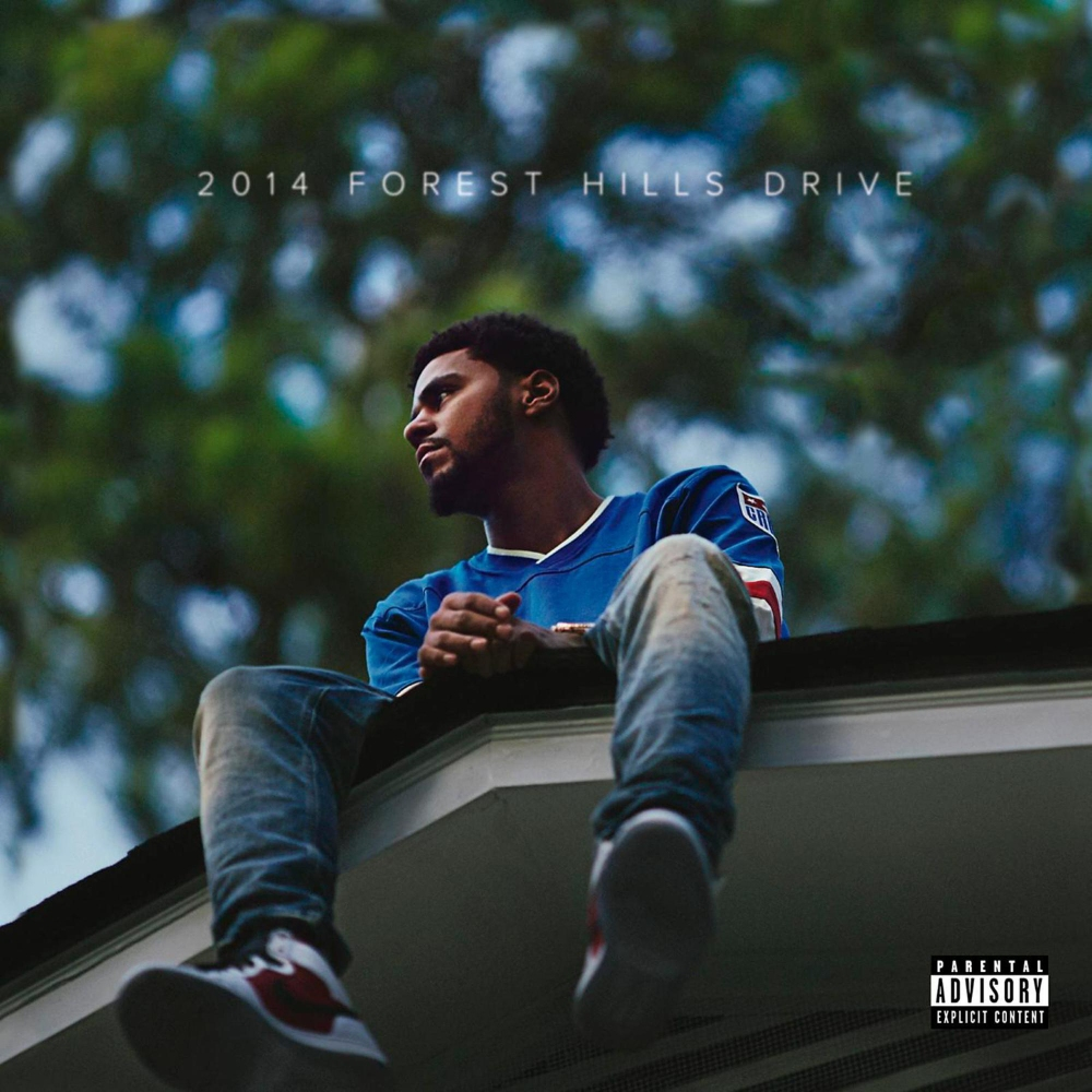 """best sneakers 25b8e 5f965 (12 2014) That time he wore the Air Jordan 1 """"Carmine"""" on the cover of his  third LP, 2014 Forest Hills Drive"""