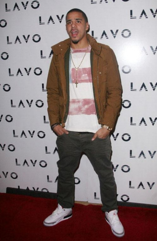 """huge selection of bd887 88abb (2 2012) Hitting up LAVO in sneakers — the coveted Air Jordan 3 Retro  """"White Cement"""" to be exact"""