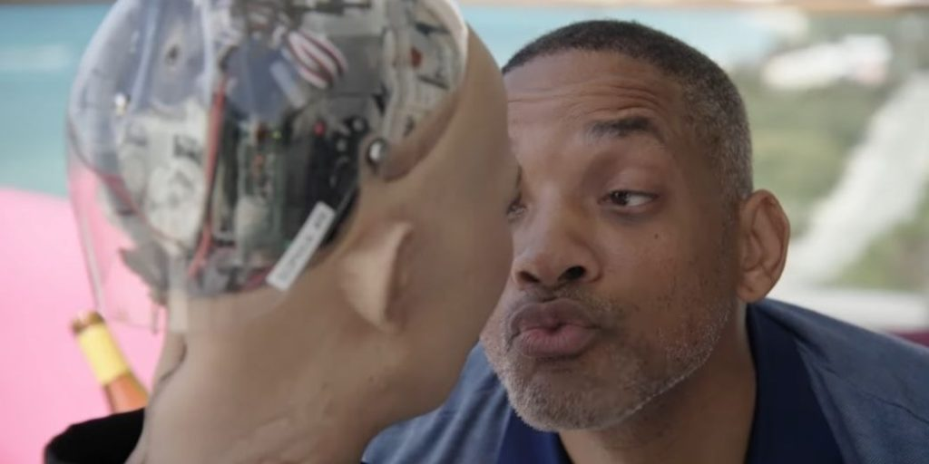 Watch: Will Smith Gets Swerved By Sophia The Robot