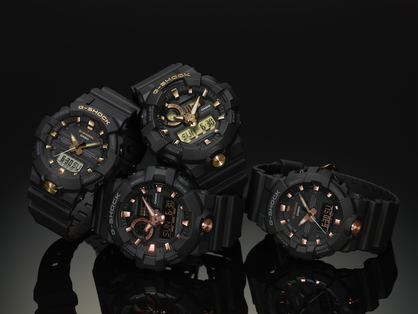 G SHOCK gold accent collection