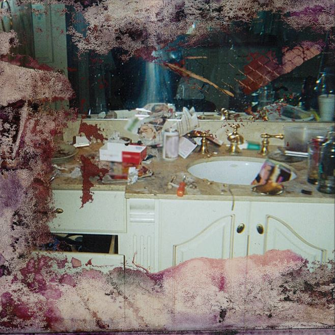 KanyeWestAllegedlyPaid$KforWhitneyHouston'sDrug CoverBathroomforPushaT'sAlbumCover