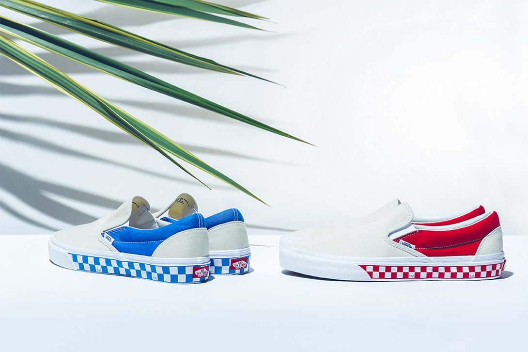 "5572ec6a1be The BILLY S x Vans Slip-On ""Side Wall Check"" Pack Will Have You Looking  Cool for the Summer"
