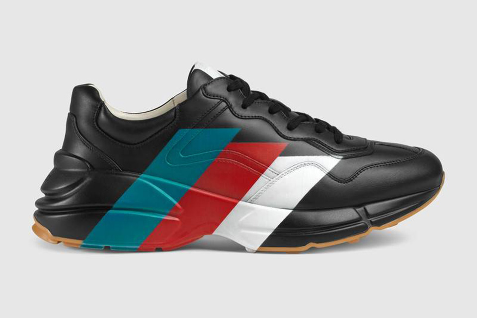 14c19644388 Grab the Gucci Pre-Fall 2018 Rhyton Sneaker right now in their online store