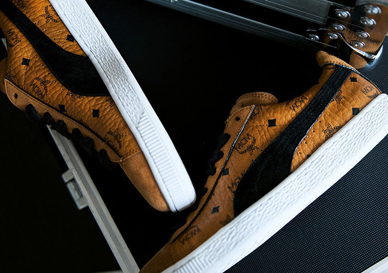 56d082573b6 The PUMA x MCM Limited Edition PUMA Suede set will drop with a matching  apparel collection (seen above) beginning May 24 for around  420 USD.
