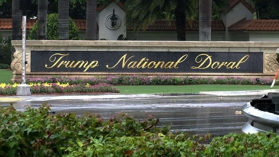 Man arrested after firing shots at Trump-owned golf club