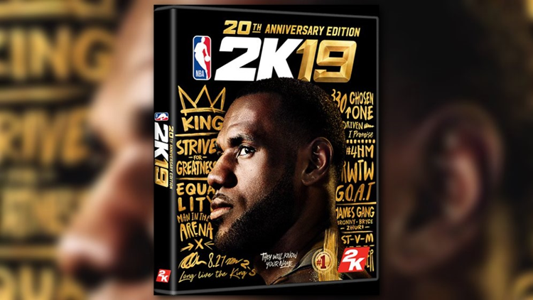 c15360932a7 LeBron James Named Cover Athlete for NBA2K19 20th Anniversary Edition