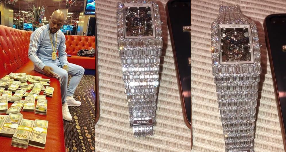 Floyd Mayweather Drops $18M on Diamond Watch