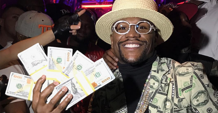 Floyd Mayweather money suit cash