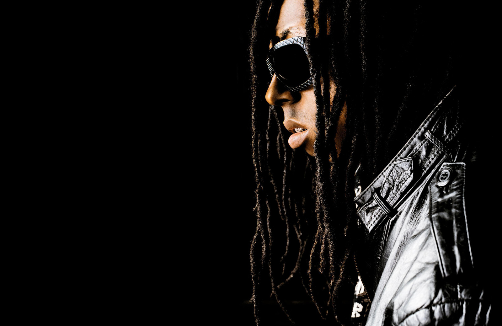 Lil Wayne Sun Glasses Dark Background Vvallpaper