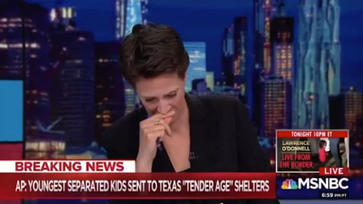 "Rachel Maddow Breaks Down While Reporting ""Tender Age"" Camps for Immigrant Children"