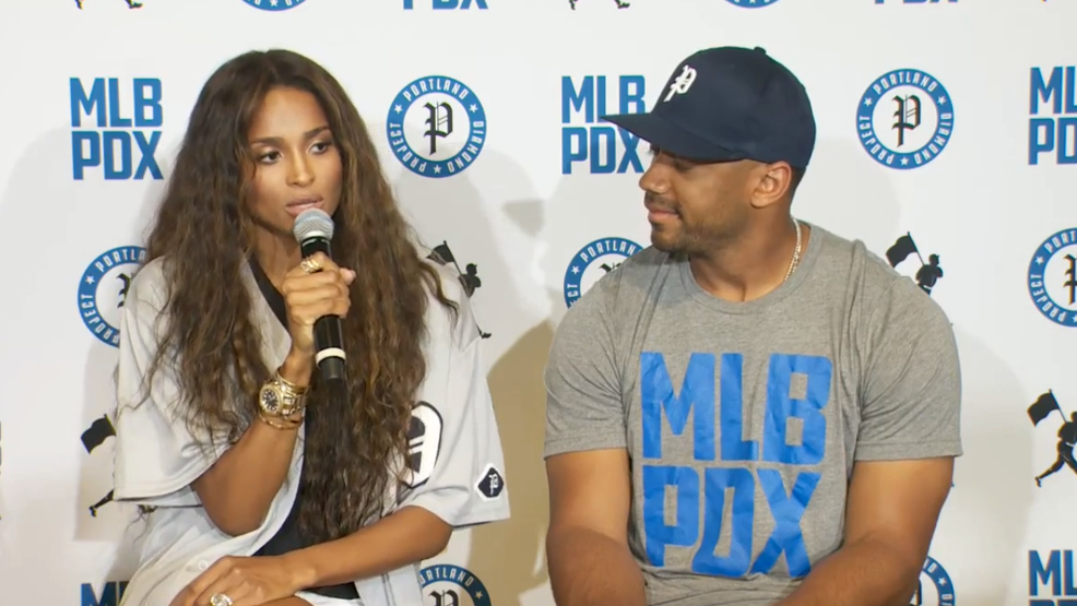 Russell Wilson, Ciara Attempt to Bring MLB to Portland