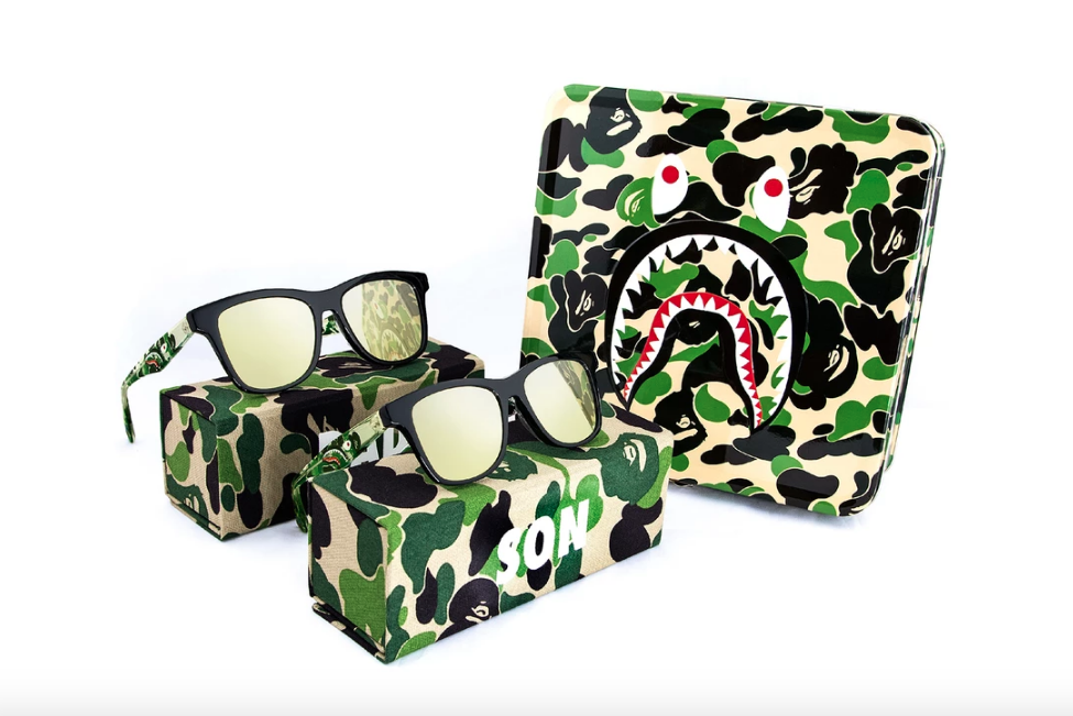 bape fathers day dad son sunglasses set
