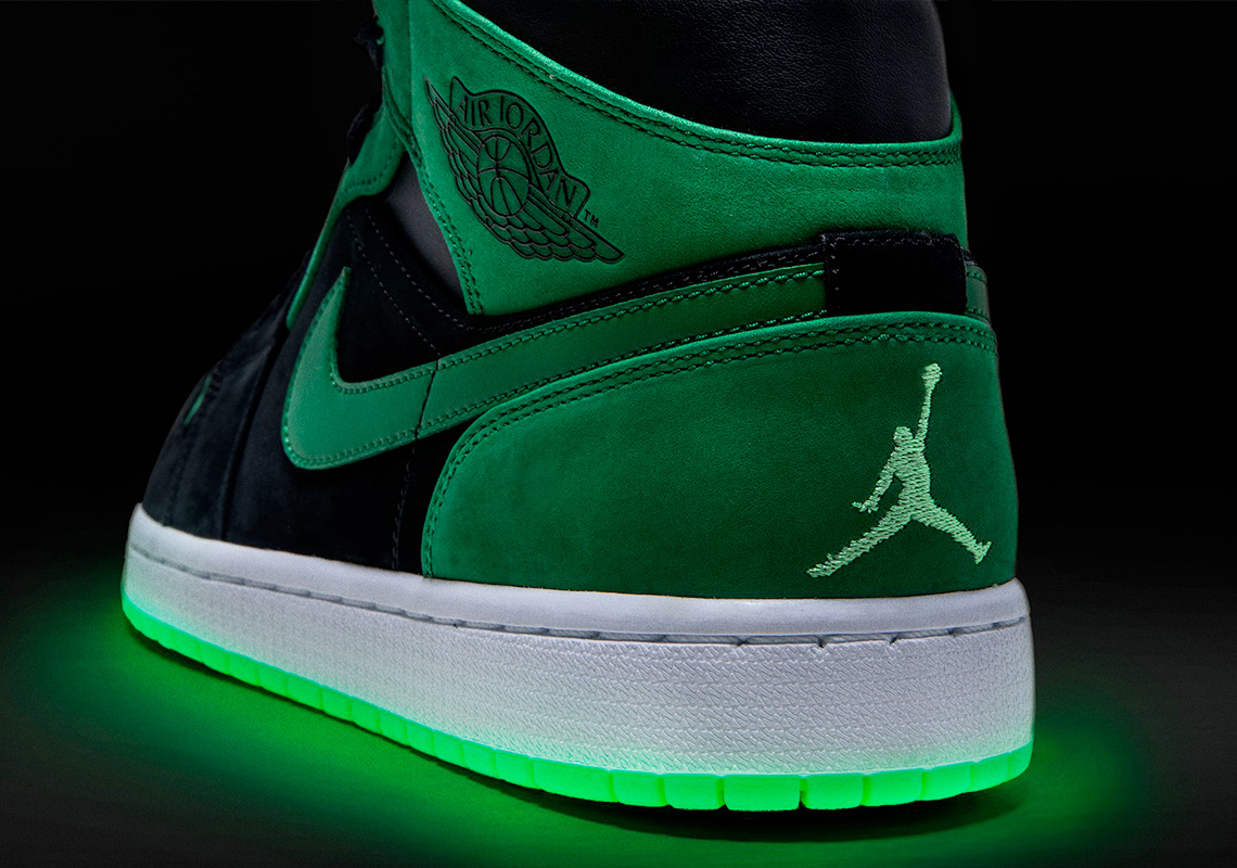 2262d247b856a9 ... Air Jordan 1 Mid. The shoe incorporates a colorway that you d expect  the most from a collab on this caliber  green and black