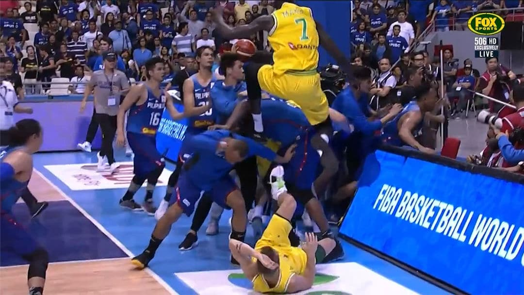 FIBA Basketball Bame Ends in a Royal Rumble
