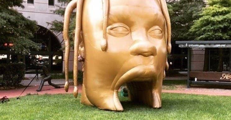 Another Gold Travis Scott Head Appears in Houston