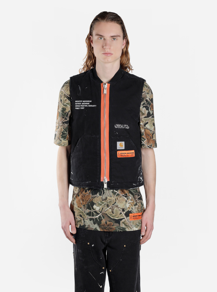 e6a7588a The Heron Preston x Carhartt WIP capsule collection is priced between $290  USD and $950 USD, and can be pre-ordered on Antonioli. Shipments are  expected to ...
