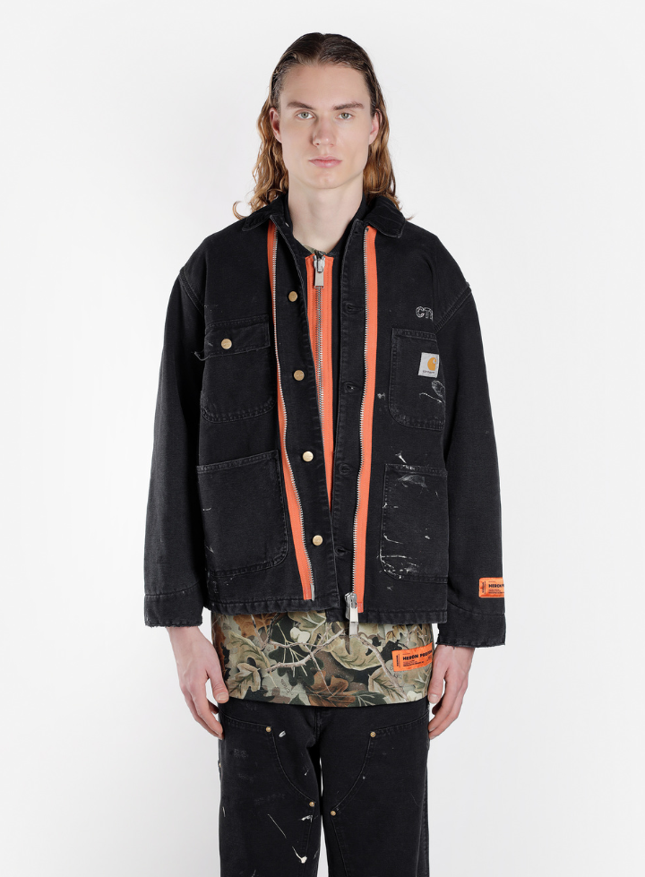 the heron preston x carhartt wip capsule is available for