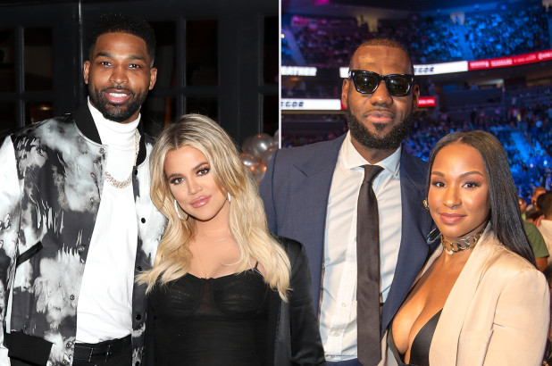 LeBron James Celebrates Signing With Lakers With Wife, Khloe Kardashian, Tristan Thompson