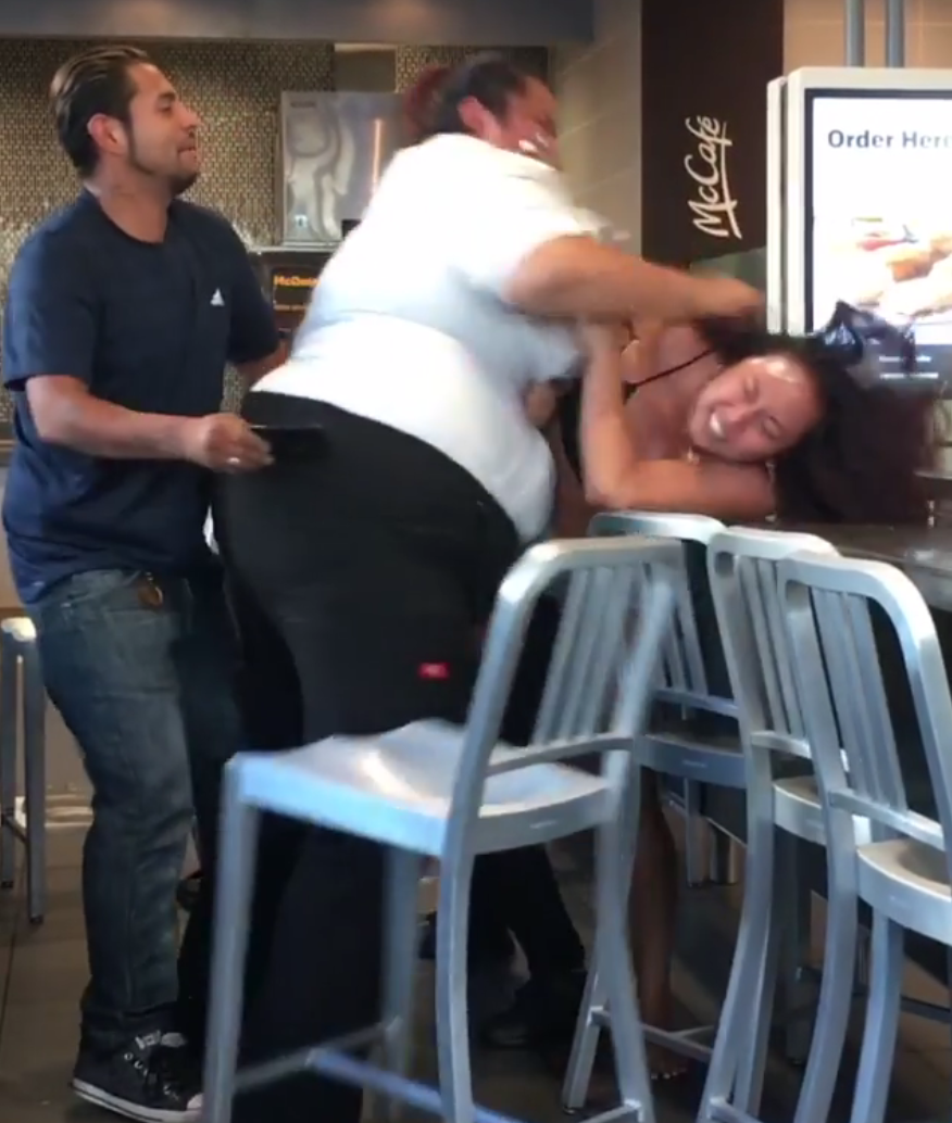 McDonald's employee brutally beaten client for the free soda