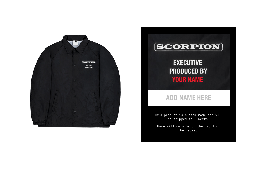 drake personalized scorpion tour jacket