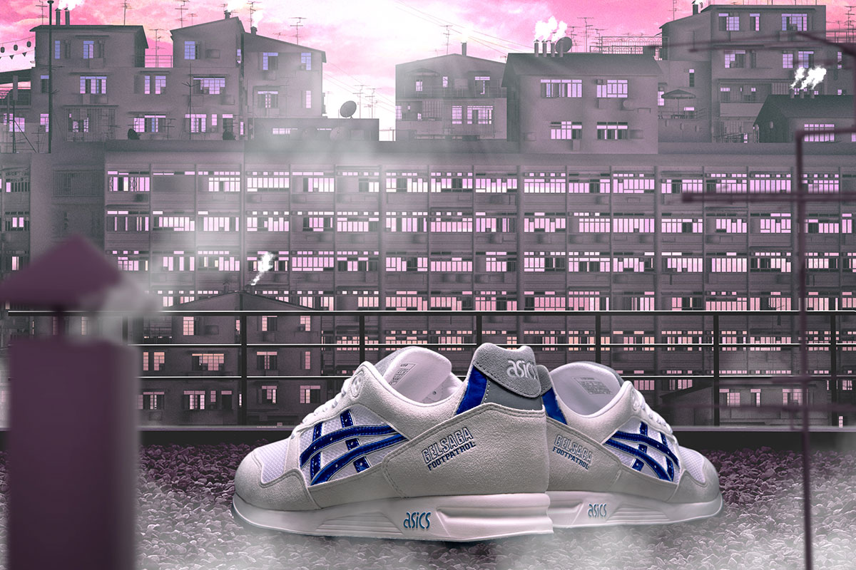 footpatrol asics gel saga anime