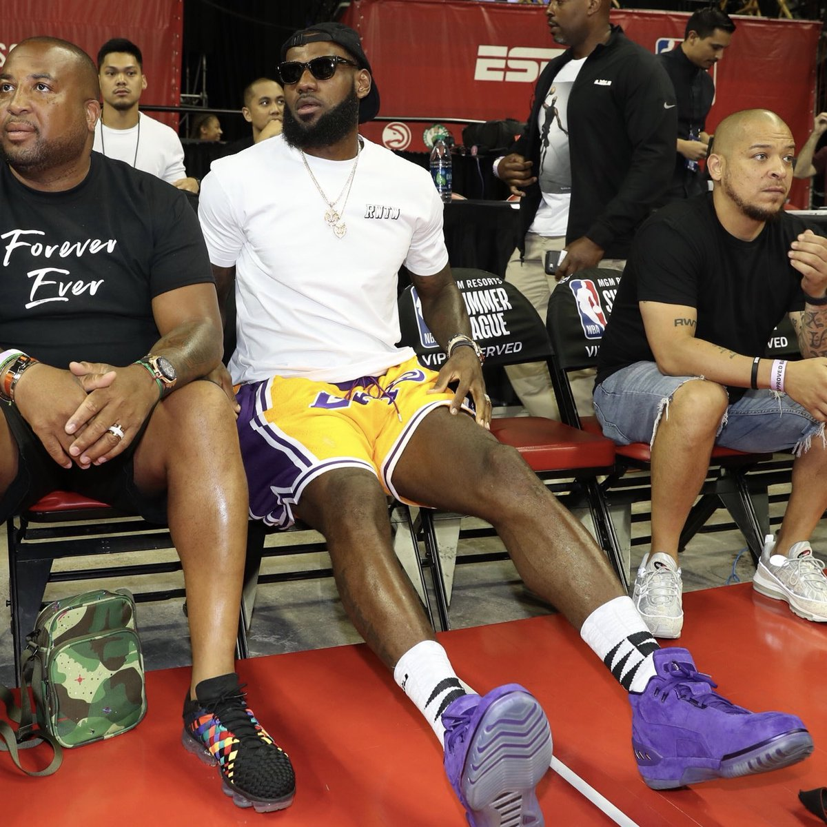 LeBron James Makes First Public Appearance as a Laker