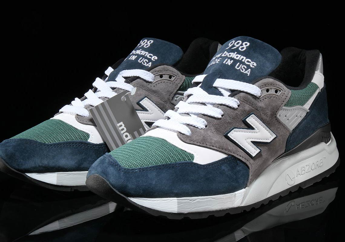 best service 513a8 08d9d This Navy and Teal New Balance 998 Is the Perfect Summer Shoe